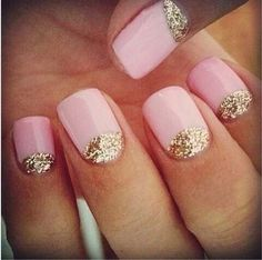I like the pale pink& the gold glitter...adds a little POP