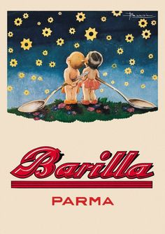 Vintage Food Advertising Poster Barilla Parma Classic Kraft Posters Canvas Painting Bathroom Wall Sticker Home Decoration Gift Vintage Italian Posters, Pub Vintage, Vintage Advertising Posters, Vintage Labels, Vintage Travel Posters, Vintage Cards, Vintage Advertisements, Vintage Food, Food Advertising