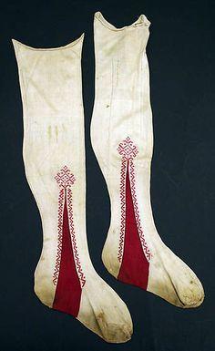 Stockings | Italian | early 19th century | silk | Metropolitan Museum of Art | Accession #: 26.56.119