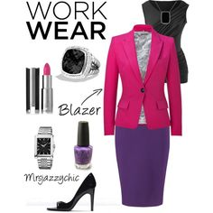 The work wear blazer is very versatile. You can wear it with a skirt or pair of pants. Your look can be casual or dressy with a blazer. Be creative! #ootd #mydreamcloset #iputthistogether #rockitownit #workwear #workblazer #blazer