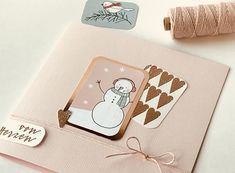 Winterliche Geburtstagskarte