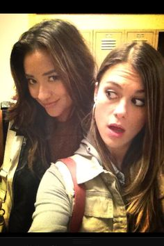 Lindsey Shaw and Shay Mitchell || pll