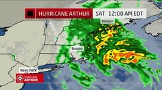 Wind and heavy rain from Hurricane Arthur continues to hit the East coast heading towards New England with flash flood warnings.
