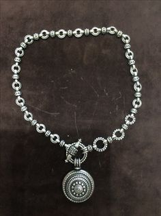 Sterling Silver toggle style link chain necklace by Bowman Originals.