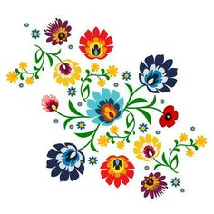 Illustration about Traditional folk floral pattern illustration. This is a image - you can simply edit colors and shapes. Illustration of history, design, icon - 70491525 Art Floral, Motif Floral, Swedish Embroidery, Mexican Embroidery, Embroidery Tattoo, Embroidery Kits, Embroidery Saree, Folk Art Flowers, Flower Art