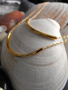 Delicate Double Strand Gold Bar Necklace by melmaxdesigns on Etsy, $24.95