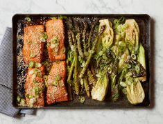 Miso Salmon with Bok Choy and Asparagus | Goop