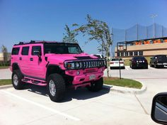 Hummer - to drive a beautiful hummer - a pink one would be a bonus!! :)
