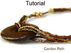 Beading Pattern, Necklace Tutorial, Beaded Patterns Tutorials Directions Instructions, Bead Stitching, Simple Bead Patterns #1877