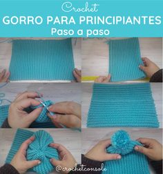 Gorro a crochet para principiantes - Crochet con Sole Fashion Sewing, Knitting Designs, Crochet Earrings, Sewing Patterns, Crochet Hats, Tapestry, Handmade, Gran Gatsby, Beginner Crochet