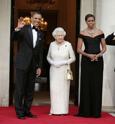 The Queen with Barack and Michelle Obama