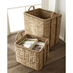Large Seagrass Basket ($150) found on Polyvore