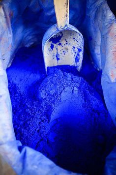 Vibrant cobalt.