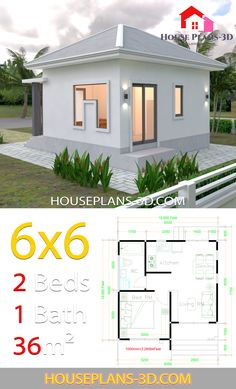 House Plans With One Bedrooms Hip Roof is the perfect High Quality Home Decor with HD Resolution. => Click image or visit button for Best Quality and any Home Decoration Image Collection on…More Garden Design Plans, Home Garden Design, Home Design Plans, Small House Plans, House Floor Plans, Casa Bunker, House Construction Plan, Best Home Plans, Home Decoration Images