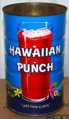 Vintage Hawaiian Punch Can. Do you remember getting Hawaiian punch in a can? How To Pronounce Quinoa, Monster Themed Food, 1980s Food, Four Food Groups, Hawaiian Punch, This Is Your Life, My Childhood Memories, Childhood Toys, I Remember When