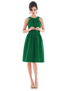 emerald green bridesmaid dress, like the style but in a different color