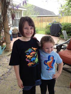 Cute HMNS shirts on even cuter kids.