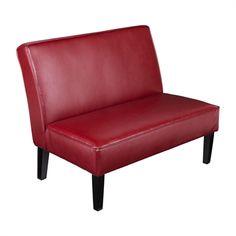 Boston Loft Furnishings Brady Faux Leather Settee Bench
