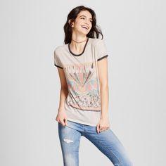Women's Woodstock Music & Art Fair Graphic T-Shirt (Juniors') - Mighty Fine Cream