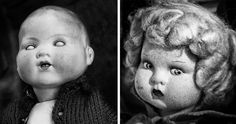 These black and white photographs were taken on secondhand trades and attic sale between 2013 and 2014. They illustrate the universe of neglected dolls with severe facial injuries, which manhandled by time and the grown up child, fail on a market stall when the silence replaced the game.
