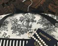 Items similar to Tres Chic Paris Travel Closet Hanger Safe on Etsy Closet Safe, Rustic French Country, Try To Remember, Paris Travel, Bride Gifts, Fabric Decor, One Pic, Black And White, Black Satin