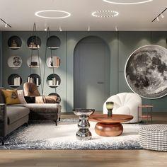 Галерея Minotti Furniture, Luxury Furniture, Modern Interior Design, Interior Architecture, Design Commercial, Kids Room Design, Living Room Designs, Room Decor, House Design