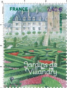 France Stamp 2011 - Jardins de Villandry