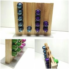 Nespresso Capsules Holder Ever wanted a unique capsule holder? Something that actually looks good next to your beautiful Nespresso machine? Coffee Pod Storage, Coffee Pod Holder, Pod Coffee Makers, Capsule Cafe Nespresso, Dosette Nespresso, Nespresso Machine, Coffee Tamper, Handmade Kitchens, Dolce Gusto