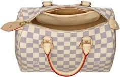 In a dream world, I would really love a Louis Vuitton Speedy 30 in Damier Azur canvas.
