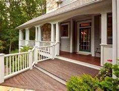 wraparound porch w/ wide front steps