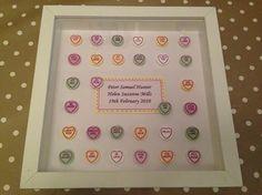 Framed gift for new baby from Sammys Handmade Crafts www.sammys-crafts.co.uk
