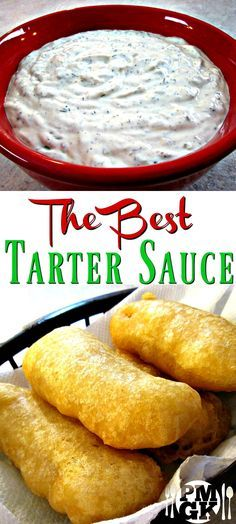The Best Tartar Sauce Ever!I know that I say it a lot but this truly is the best Tartar Sauce, ever! I'm a big fan of great fried fish and fish in Sauce Recipes, Fish Recipes, Seafood Recipes, Appetizer Recipes, Cooking Recipes, Recipies, Cooking Tips, Appetizers, Hummus
