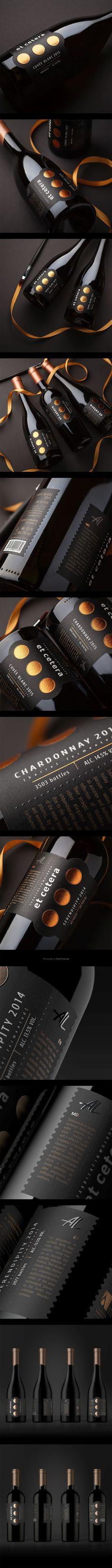 Et Cetera Premium Wine Label Art, Wine Label Design, Wine Labels, Bottle Design, Wine Logo, Coffee Cup Design, Wine Photography, Spiritus, Wine Brands