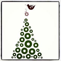 #Yule #tweets #joulupuu #vinyylit #koristella #joulukortti2014