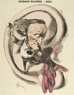 Richard Wagner - caricatures André Gill, 1868/69