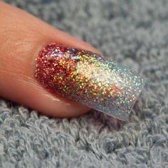 Nail Art Tutorial: Acrylic Glitter Ombre