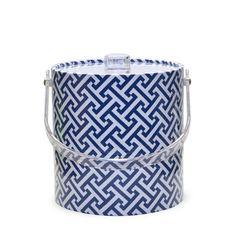Blue Geo 3 Qt. Ice Bucket by MrIceBucket on Etsy, $49.99