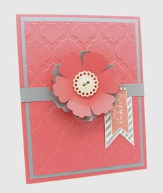 Happy Birthday Blossom using Stampin' Up! Blossom punch, Hearts a Flutter and Banner greetings Stamp Sets.