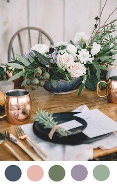 Different color schemes for floral arrangements or rooms