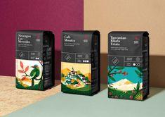 Coffee bag design - Archer Farms Coffee Branding & Packaging by Jules Tardy – Coffee bag design Coffee Packaging, Coffee Branding, Food Packaging, Brand Packaging, Design Packaging, Pretty Packaging, Packaging Ideas, Design Café, Grid Design