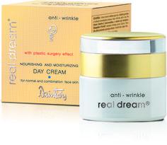 Dzintars Real Dream Anti-Wrinkle nourishing and moisturizing day cream for normal and combination face skin/vyživijúci a hydratačný krém pre normálnu a zmiešanú pleť