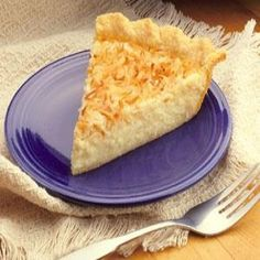 Coconut Custard Pie... this one has the right link