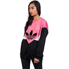 adidas #Sweatshirt – Tref Over grünweiß Größe: XS (X Small
