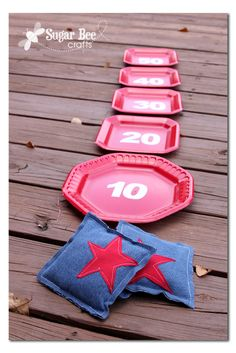 Last minute picnic games to play for 4th of July. | from SugarBeeCrafts.com