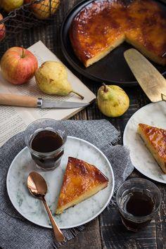 Fondant pomme, poire caramélisé