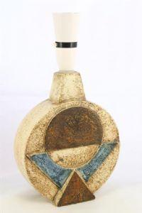 Medium Wheel Lamp Base decorated by Sally Bart