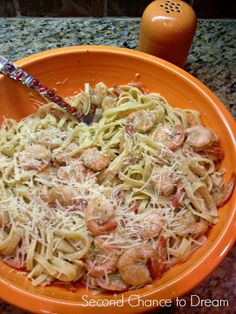 Garlic Butter Shrimp Scampi with Linguine:   This is a great quick & easy meal. Serve this with a salad and garlic bread.