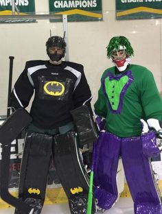 Sioux City Musketeers players dressing up for Halloween