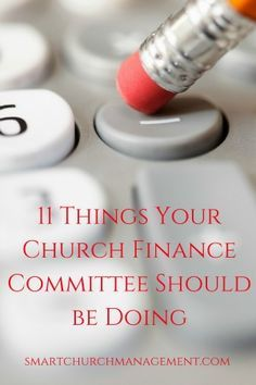 Things your church finance committee should be doing