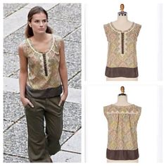 Crackling Plaster Blouse I love Floreat  and this is such a beautiful top! It is an amazing style that looks great with jeans, shorts, or tucked into your favorite skirt In like new condition...it just needs to be loved by someone who will wear it Anthropologie Tops Blouses